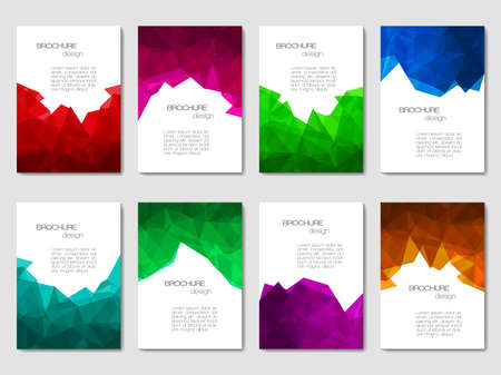abstract business: Set of brochures with geometric patterns in polygonal style