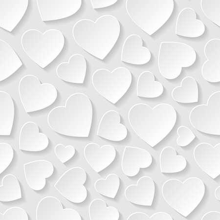 dia: Patrón transparente con corazones