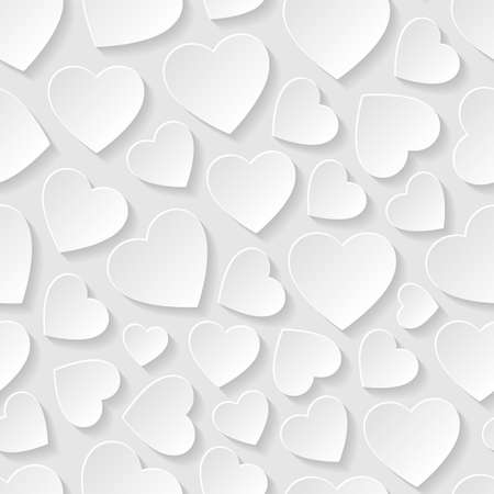 Happy valentines day: Seamless pattern with hearts