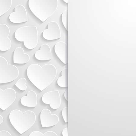 heart design: Abstract background with hearts