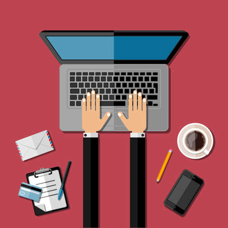 workspace: Modern business office workspace