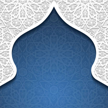 eastern religion: Abstract background with traditional ornament