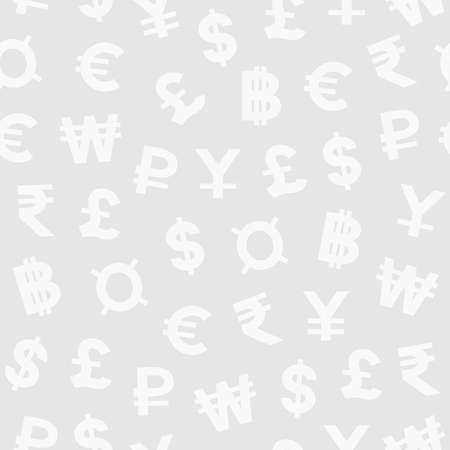 money exchange: Seamless pattern with currency symbols