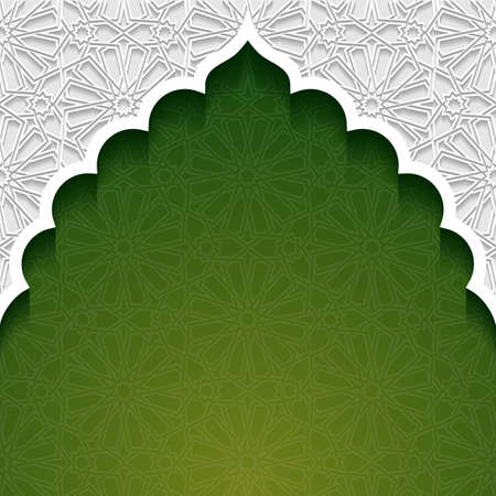 mosque illustration: Abstract background with traditional ornament