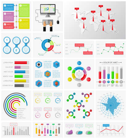 ui: Ui, elements of infographics collection Illustration