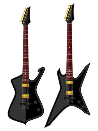 modern: Modern electric guitars. Flat design