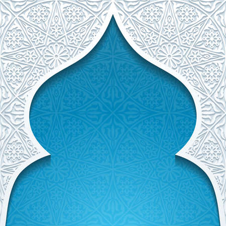 traditional illustration: Abstract background with traditional ornament. Vector illustration.
