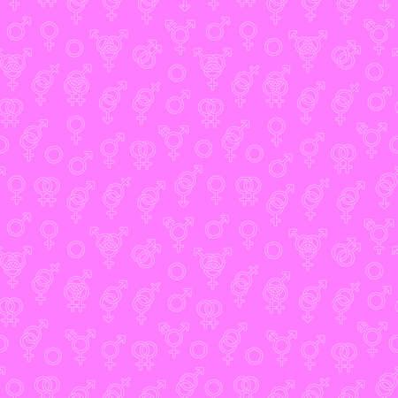 Patrones sin fisuras con símbolos de sexualidad. Ilustración vectorial