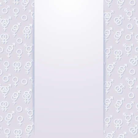 Fondo abstracto con símbolos de sexualidad. Ilustración vectorial