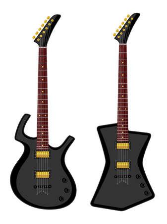 Modern electric guitars. Flat design. Vector illustration. Stock Illustratie