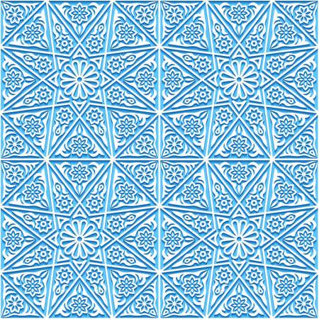 Motif floral sans couture avec ornement traditionnel. Illustration vectorielle. Vecteurs