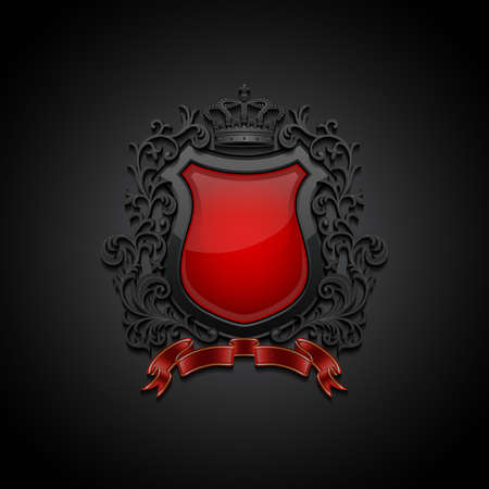 Coat of arms. Decorative background. Vector illustration. Vectores