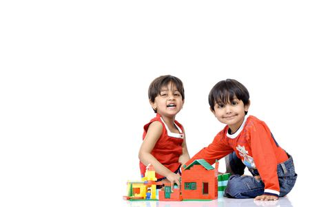 indian children: two kids Stock Photo