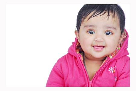 portriat of smiling baby