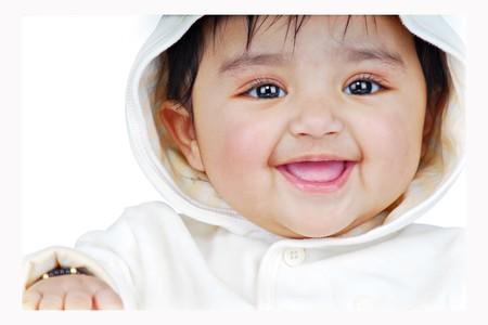 portrait of cheerful baby Stock Photo - 4475155