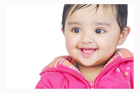 indian child: portrait of smiling baby