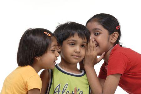 ninos indios: dos hermanas y un hermano