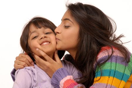 loving happy indian sisters   photo