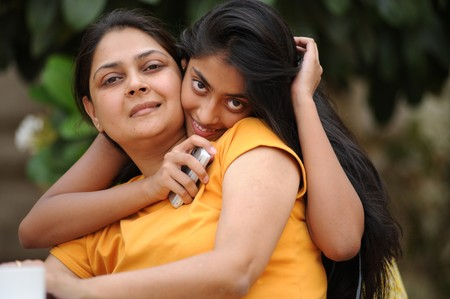 adult indian: Happy mother and daughter
