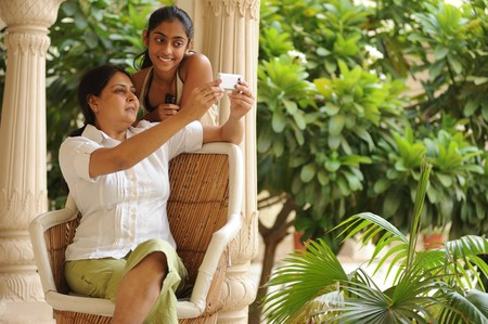 mother and daughter having fun  Banco de Imagens