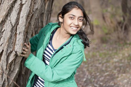 Indian pretty girl in outdoors photo