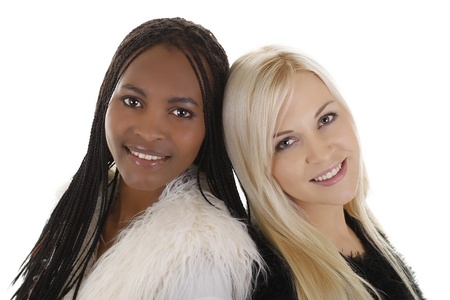 African and european woman