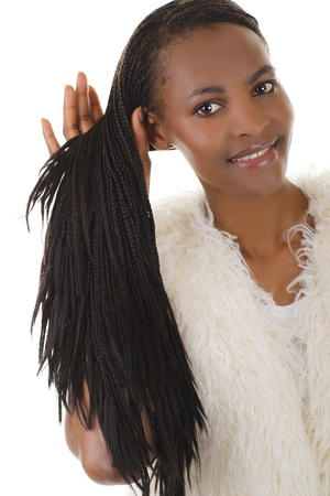 African woman with dreadlocks photo