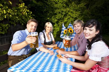 beerfest: Happy group of bavarian people