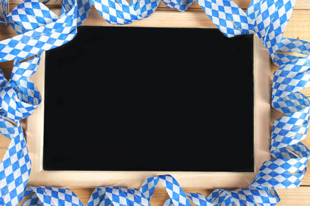 menue: Bavarian black board with streamers