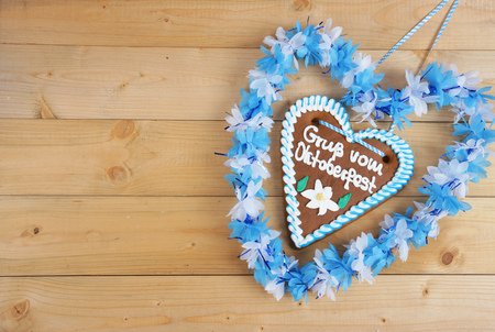 gingerbread heart: Gingerbread heart on wooden ground