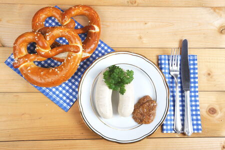 veal sausage: veal sausage on a plate