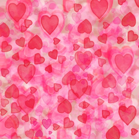 blurring: Pinkand rose fuzzy heart background