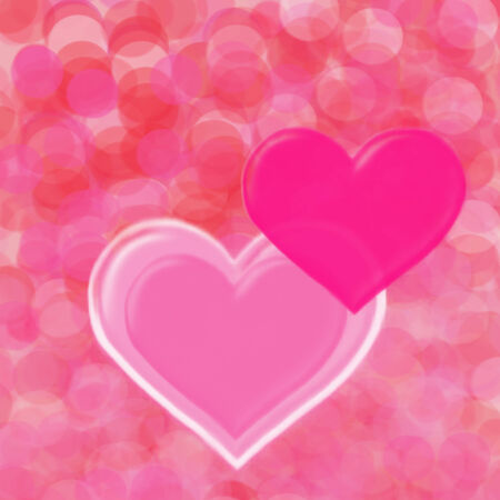 copy writing: Two valentine hearts