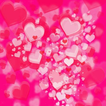 Pinkand rose fuzzy heart background
