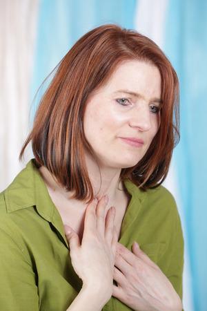 甲状腺の問題と中年の女性