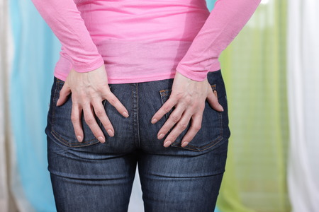 anus: Woman with pain in the anus
