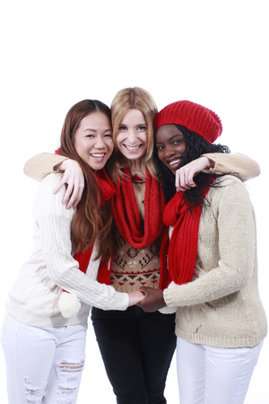 derivation: Three girlfriends with different derivation isolated