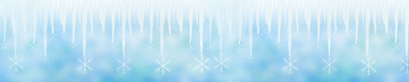 Winter background with icicle