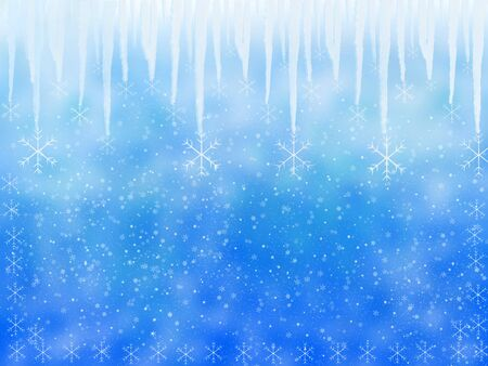 sopel lodu: Winter background with icicle