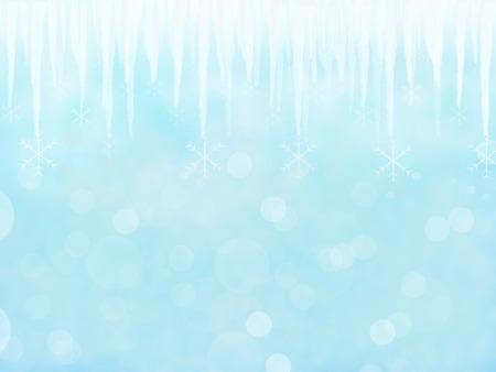 sopel lodu: Blue Winter tle z sopel