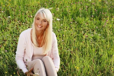 Mature blonde enjoys