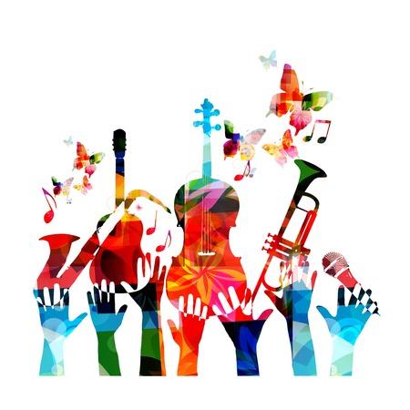 Abstracte muziek achtergrond met concert thema