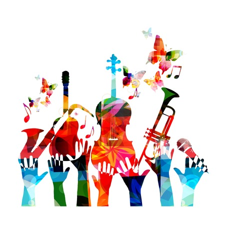 violines: Música de fondo abstracto con tema de concierto