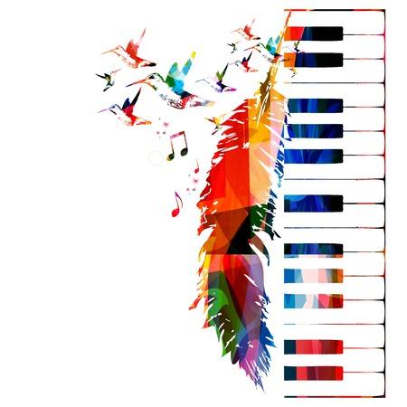 instruments: Colorful music background Illustration