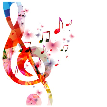 notes: Colorful music background Illustration
