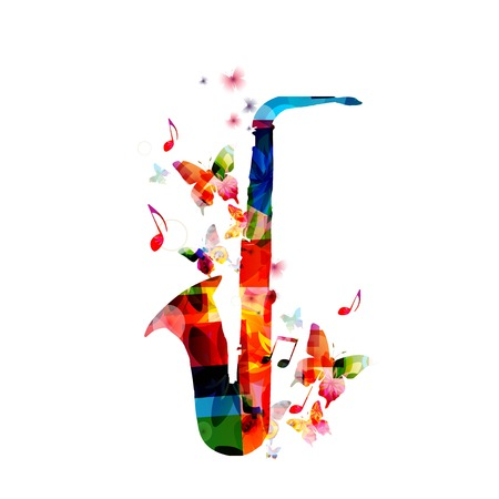 Colorful saxophone design