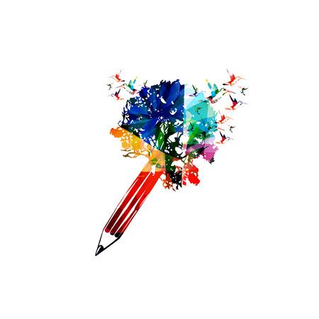 Creative writing concept Vector