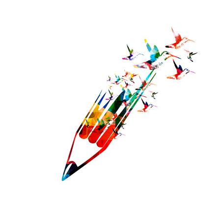 Creative writing concept Illusztráció