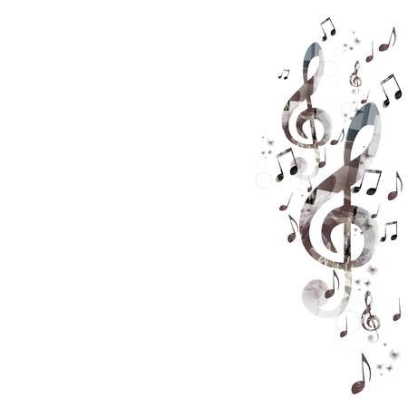 popular music: Music background with g-clef