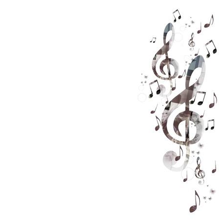 Muzyka w tle z g-klucz wiolinowy Ilustracje wektorowe